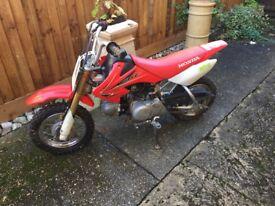 Child's 50cc Honda Motorcycle