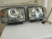 Range rover head lights with indicators