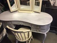 Kidney shape dressing table project