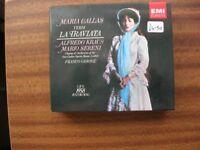 EMI Classics Double CD of Verdi La Traviata Live 1958 Recording with Maria Callas.