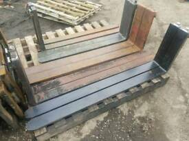 Selection of forklift pallet forks tractor telehandler etc sizes in pictures