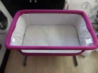 Chicco Next 2 Me Side Sleeping Crib In Pink
