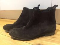 Office men's suede boots dark brown and black size 8