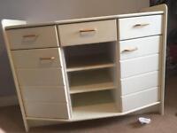 Cream wooden Change unit