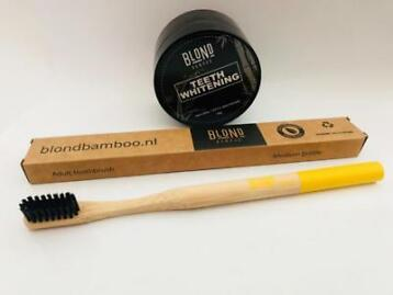 Blond Bamboo Tandenborstel en Charcoal Activated Whitening