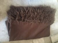 Suede effect throw