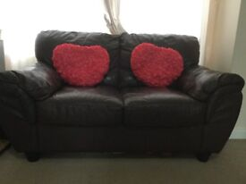 Leather sofas 2+3 seater
