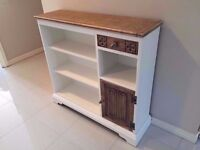 OLD CHARM ORIGINAL BOOKCASE CABINET, LOVINGLY UPCYCLED AND IN FANTASTIC CONDITION