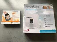 Angelcare baby monitor and Snuza go baby movement monitor