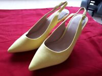 Yellow Suede-Effect Slingbacks *never worn* (Size 6)