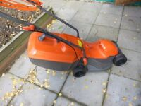 Flymo Rollermo Electric lawnmower in perfect condition about 5 month old