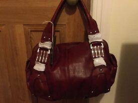 New Burgundy handbag (unwanted gift)