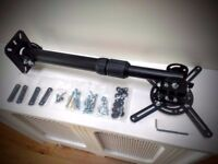 Projector wall or ceiling mount arm, infinitely adjustable, home cinema
