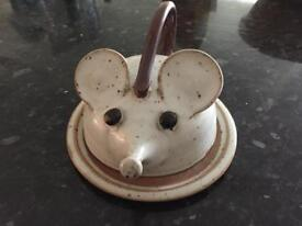 Cute Mouse Butter Dish