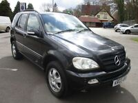 2003 03 MERCEDES ML350 3.7 4X4 7 SEATER AUTO LOW 78K CRUISE LEATHER FSH A/C 2 KEYS PX SWAPS
