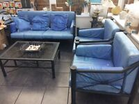 Unique Wrought Iron sofa and 2 armchairs