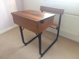 Antique writing school desk
