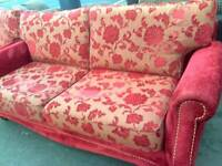 Red settee and armchair