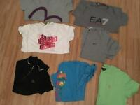 Various different t shirts for sale Hugo Boss Evisu Ralph Lauren Nike etc