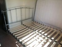 King size bed frame - silver