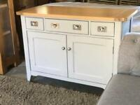 Small Sideboard BRAND NEW! Oak & Grey Painted Harbour by DFS