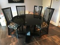 Dining table with 4 matching chairs- collection only