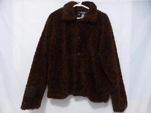 URBAN INSTINCT soft and cozy brown button down front coat size medium BNWOT
