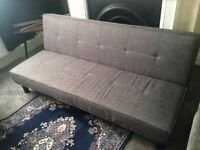 Sofa Bed Charcoal Grey - almost new (argos patsy fabric clic clac sofabed)
