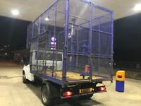 Tipper Body and Cage, for Ford Transit, includes subframe and pump. Massive luton style cage.