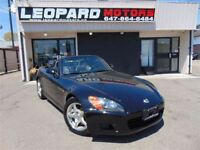2002 Honda S2000 Convertible,Leather,6 speed,Low Km*Certified*