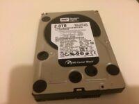 """Western Digital Black 2TB SATA 3.5"""" HDD WD2001FASS Hard Disk Drive"""