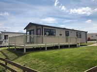 Sea front caravan for sale, wrap decking, Berwick holiday park, Near Haggerston castle & Eyemouth