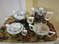 Vintage Retro Heatmaster Princess Four Piece Tea Set