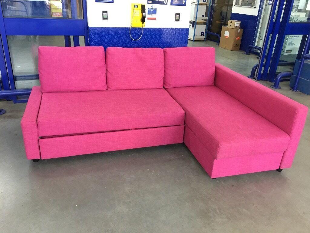 Pink Ikea Corner Sofa Bed   in Worsley, Manchester   Gumtree