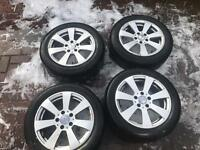 "Mercedes genuine 16"" alloys with tyre"