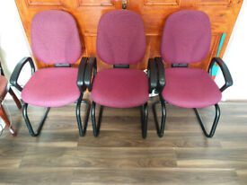 3 Office Chairs / Living room Chairs (£25 for all three) STRONG CHAIRS (£10 EACH)