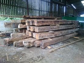 Oak Reclaimed Large Oak Beams now reduced in price