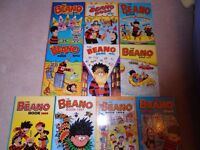 10 Beano Books Vintage childrens comics Annuals Job Lot 1990's complete