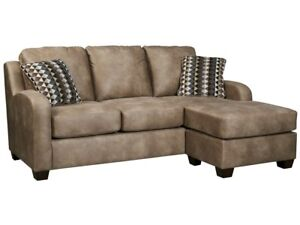 Dark brown faux leather sofa/loveseat/ottoman