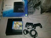 PS4 1TB memory + 2 controllers and 4 games