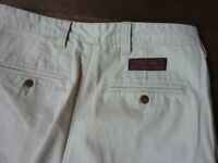 ABERCROMBIE AND FITCH MENS DURABLE SMART CHINO TROUSERS 32 WAIS 33 LONG WHITE STONE COLOUR