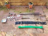 3 x Fishing Rods, 2 x Reels and loads of other equipment - perfect beginners fishing set