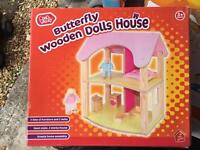 Chad Valley Butterfly Wooden Dolls House