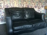 Corner sofa & 2 seater Leather