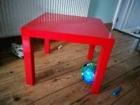Ikea LACK high gloss red side table 55x55cm