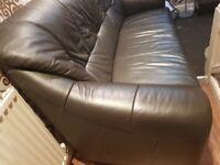 Real leather dorado 3 seater sofa spotless condition