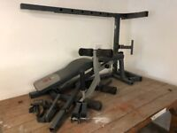 Weights bench and rack