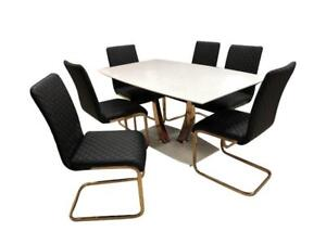 Sale on black dining set with golden legs |furniture collection (C2C2001)