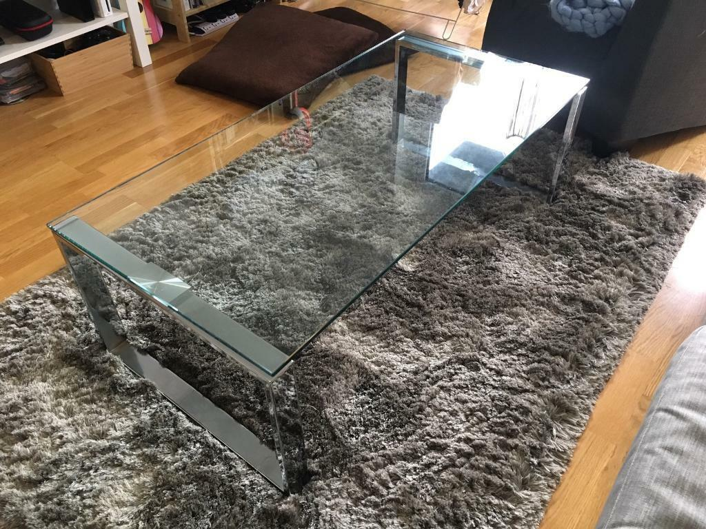 Glass Coffee Table. Used. Minor scratches.