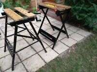 2x Black & Decker Workmate 300 benches
